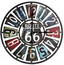Item 1 Metal Wall Clock Route 66 License Plate Design Vintage Style Art Decor Rustic