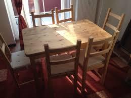 esstisch mit 6 stühlen wie neu