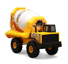 100 Tonka Strong Arm Garbage Truck Steel Cement Mixer Vehicle Rotating Barrel Construction Play