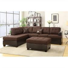 Chocolate Corduroy Sectional Sofa by Bowery Hill Sectionals