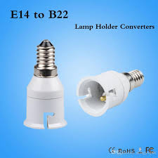 2018 brand new small e14 to b22 led cfl light bulb adapter