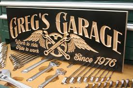 Motorcycle Sign Garage Sign Guy Gift Tool Rules Signs Man