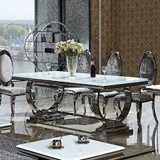 wohnen luxus esstisch amelie 200 x 100 cm esszimmertisch glas edelstahl tisch bürotisch schreibtisch 200 cm x 100 cm