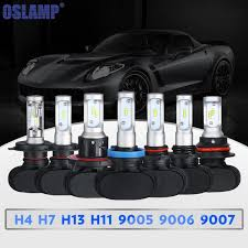osl s1 h4 h7 h11 h13 9005 9006 car led headlight bulb single hi