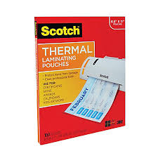 Scotch Thermal Laminating Pouches 8 78 x 11 38 Pack 100 by