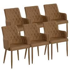 voglrieder esszimmer stuhl set 6 stück armlehner bettina festgepolstert lino hasel möbel und schönes