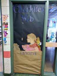 Winter Themed Classroom Door Decorations by Charlotte U0027s Web Book Themed Door Bulletin Boards Anchor