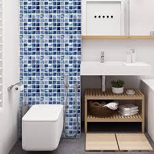 großhandel blau 3d fliesen aufkleber mosaik wandaufkleber raumdekoration diy wohnzimmer küche badezimmer poster selbstklebende aufkleber