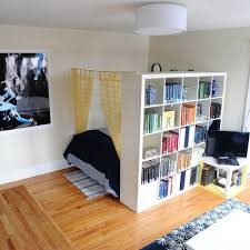21 Design Hacks For Your Tiny Apartmentvera Example Apartment Storage Room Divider