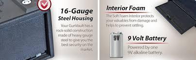Cabelas Gun Safe Battery Replacement by Amazon Com Gunvault Gv1000s Mini Vault Standard Gun Safe Home