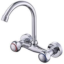 Aquasource Bathroom Faucet Aerator by Aquasource Chrome 2 Handle High Arc Wall Mount Kitchen Sink Faucet