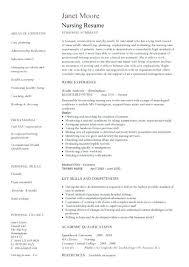 Resume Template Nurse Free Nursing For Nurses Nursery Teacher Cv