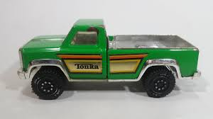 100 Vintage Tonka Truck Pickup Bright Green And Chrome Pressed Steel Toy