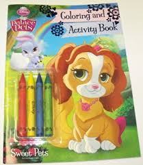 Get Quotations Disney Princess Palace Pets Coloring And Activity Book With 4 Jumbo Crayons Sweet