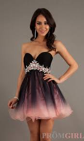 strapless ombre party dress by dave and johnny 9258 strapless
