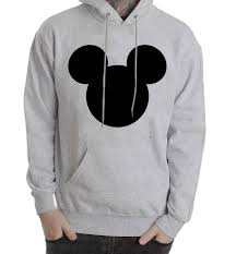 mouse face grey color hoodies