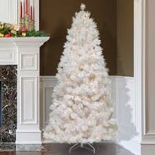 75 White Grande Slim Artificial Christmas Tree With 500 Pre Lit Clear Lights Stand