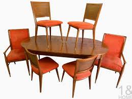 John Widdicomb J Stuart Clingman Mid Century Dining Room Table Chairs