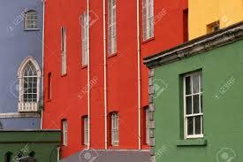 100 Dublin Street Colorful Houses On A Row In A Street Ireland