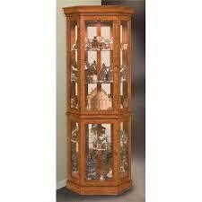 Walmart Corner Curio Cabinets by Philip Reinisch Lighthouse Classic Oak Corner Curio Cabinet