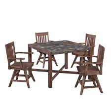 Wayfair Patio Dining Sets by Oakland Living Elite Resin Wicker 5 Piece Patio Dining Set With