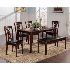 100 Cherry Table And 4 Chairs 5222 Alpine Furniture 52225 Provo 5 Piece Dining Set