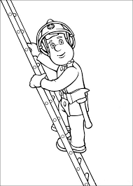 Fireman Sam Coloring Pages For Kids 6