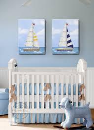 Sailboat Nursery Art Baby Nursery Room Decor Nautical