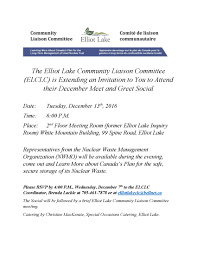 News Elliot Lake munity Liaison mittee