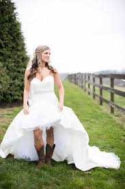 Awesome High Low Wedding Dress With Cowboy Boots 97 About Remodel Dresses For Women