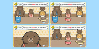 Goldilocks And The Three Bears Playdough Mat