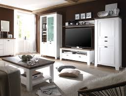 wohnzimmer barnelund akazie weiß 5 teilig wohnwand