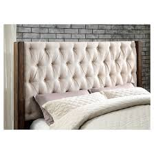 alva transitional tufted wingback bed furniture of america target