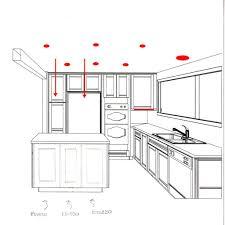 marvellous minimalist kitchen lighting design layout with recessed