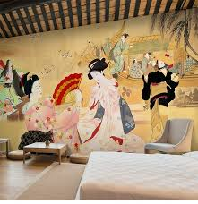 Japanese Restaurant Sushi Wallpaper Retro Nostalgic Ladies Large Mural