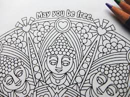 May You Be Free Printable Mandala Mindfulness Coloring Page PDF By Candy Hippie Candyhippie