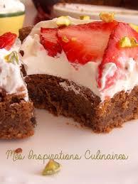dessert aux fraises gateau aux fraises chantilly et chocolat le cuisine de samar