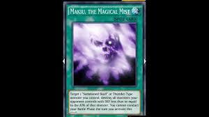 yugioh duel links makiu the magical mist thunder deck youtube