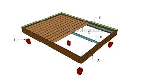 platform bed frame plans myoutdoorplans free woodworking plans