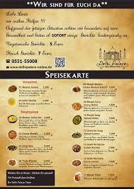 Kã Che Kaufen Sofort Lieferbar Delhi Palace Startseite Göttingen Speisekarte Preise