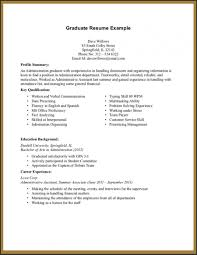 Resume Templates How To Write A With No Job Experience Example Examples Of