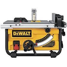 dewalt dwe7490x 10 inch job site table saw with scissor stand