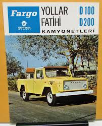 1973 Chrysler Sanayi Fargo Truck D100 200 Foreign Dealer Brochure ...