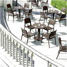 Outdoor Cafe Tables With Table And Chairs Black Color Modern Design