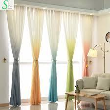 high grade 5 gradienten farbe gelb blau grau rosa grün vorhang moderne tüll vorhänge für wohnzimmer und stoffe schöne