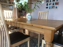 Solid Pine Dining Table With 4 Chairs | In Stafford, Staffordshire | Gumtree Details About Ding Table And 4 Chairs Set Solid Pine Wooden Kitchen Home Fniture White Life Carver Wood 118cm Large Contemporary Funiture 118 76 73cm Canterbury With Bench Solid Pine Ding Table Chairs Yosemite 5 Piece Round Side Ivory Charm X90cm Salto With And Room Sets 1 Corona Costway 5pcs Brown Rakutencom Yakoe