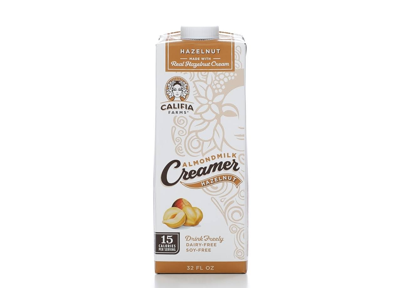 Califia Farms Almondmilk Coffee Creamer - Hazelnut, 946ml
