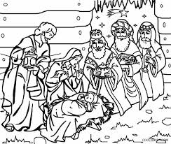 Nativity Coloring Pages Printable Free