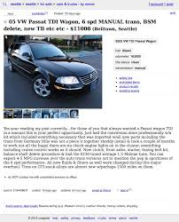 For $11,000, This 2005 VW Passat TDi Is Shaken AND Stirred! For Sale 2005 Dodge Ram 1500 Slt Rumble Bee 1 Owner Only 49k Craigslist Seattle Cars And Trucks By Owner New Car Updates 2019 20 Used Washington Atlanta Best Image Truck Kusaboshicom For 2500 This 1956 Dodge H Flatbed Is Dually Noted Best San Francisco Bay Area Motorcycles Sale The And Some Not Quite The Nflthemed Autotraderca Sf 7 Smart Places To Find Food Access Accessnacs Twitter Profile Twipu Fresh For By