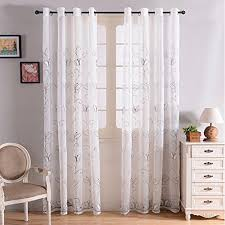 Sheer Curtain Panels With Grommets by Finel Embroidered Butterfly Voile Window Curtain Sheer Curtain